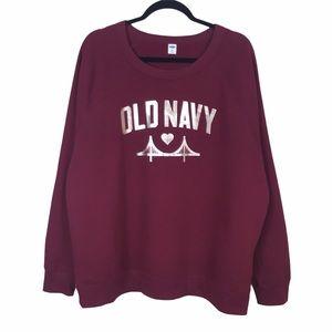 Old Navy Fleece Golden Gate Bridge Logo Sweatshirt